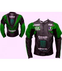 men green black motorcycle leather jacket racing team safety protection all size