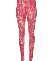 legging deportivo estampado tono coral color rosado, talla xs