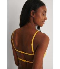marije zuurveld x na-kd recycled bikiniöverdel - yellow