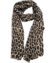portolano women's animalier leopard-print scarf - black
