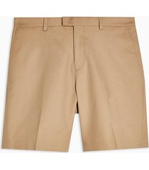 mens brown camel smart chino slim shorts