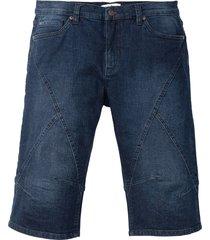 bermuda lungo in jeans elasticizzato regular fit (nero) - john baner jeanswear