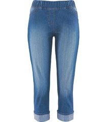 jeggings a pinocchietto in cotone con cinta comoda (blu) - bpc bonprix collection