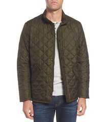 men's barbour flyweight chelsea quilted jacket, size small - green