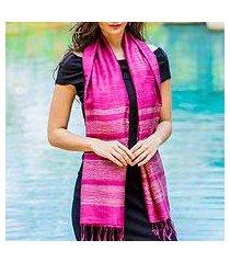 silk scarf, 'magenta mystery' (thailand)