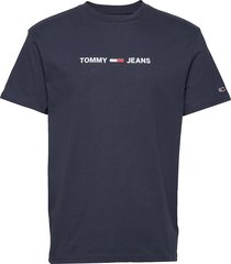tjm straight small l t-shirts short-sleeved blå tommy jeans