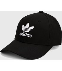 gorra negro-blanco adidas originals trifolio baseball
