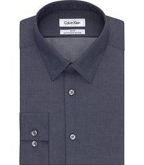 steel slim-fit non-iron dress shirt