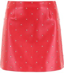 miu miu studded leather mini skirt
