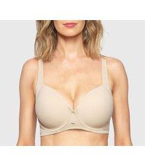 sostén lady genny microfibra con soft y corrector de postura beige