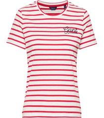 d1. breton stripe ss t-shirt t-shirts & tops short-sleeved röd gant