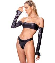 bikini capri negro élida