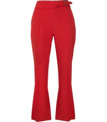 ermanno scervino high-waisted belted trousers - red