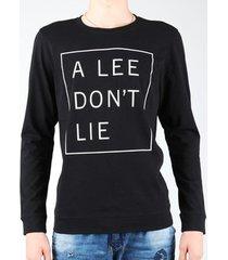 t-shirt lange mouw lee don`t lie tee ls l65veq01
