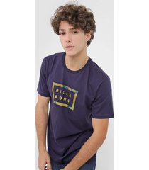 camiseta billabong die cut iii azul-marinho