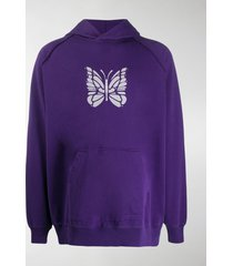 needles oversized butterfly print hoodie