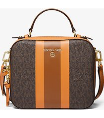 mk borsa a tracolla jet set media a righe con logo - cider multi - michael kors