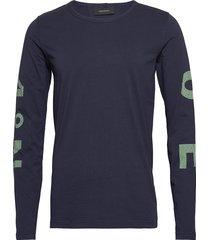 m karta ls tee t-shirts long-sleeved blauw peak performance