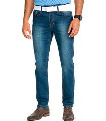 jeans casual azul guy laroche