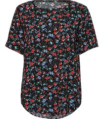 byhailey o-neck blouse - blouses short-sleeved blå b.young
