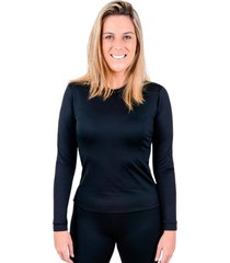 blusa rt segunda pele térmica feminina frio intenso preta