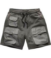 mixed wowen cargo sweat shorts
