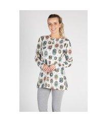 pijama sobre legging quadros feminino - toque sleepwear