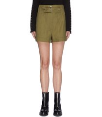 belted military sateen cargo pants