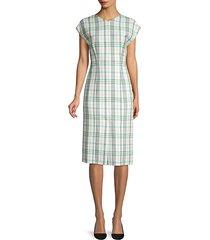 daela stretch cotton sheath dress
