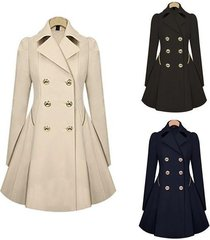 fashion spring trench coat slim fit women double breasted warm dress trench coat