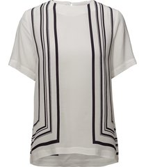 o1. border striped top t-shirts & tops short-sleeved wit gant