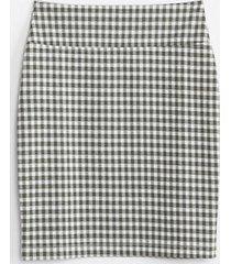 lou & grey lou & grey gingham ponte mini skirt
