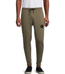bertigo men's crown logo regular-fit jogger pants - khaki - size xxl