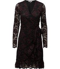 flynn lace jurk knielengte zwart ganni