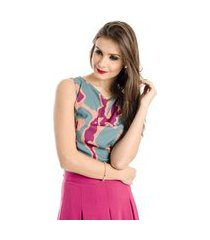 top cropped estampado alphorria