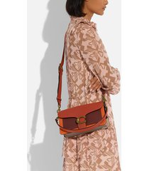 coach new york women's colorblock tabby shoulder bag 26 - rust multi