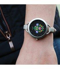 zegarek - folkowy, czarny