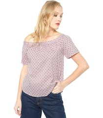 blusa cille off shoulder rosa vero moda - calce regular