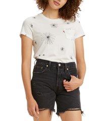 levi's cotton printed pocket t-shirt