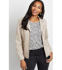 maurices womens taupe faux suede moto jacket brown