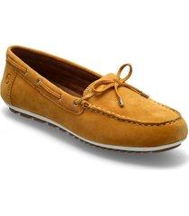 woms slip-on loafers låga skor gul tamaris