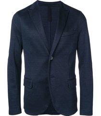 harris wharf london classic knit blazer - blue