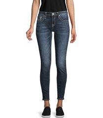 vigoss women's skinny-fit jeans - dark wash - size 25 (0)