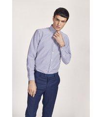 camisa azul equus hamish classic fit