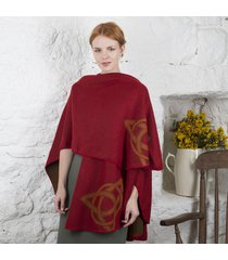 trinity knot celtic shawl red