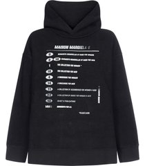 mm6 maison margiela explanation print cotton hoodie