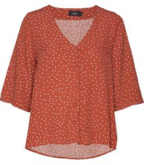 délia blouse blouses short-sleeved brun morris lady