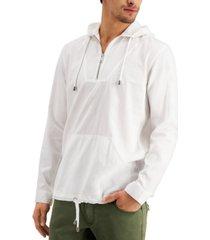 inc men's regular-fit 1/4-zip hooded shirt, created for macy's