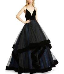 mac duggal open-back ball gown