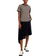 weekend max mara cotton navetta striped t-shirt